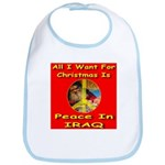 Santa Clause Peace Symbol Bib
