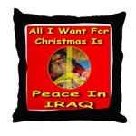 Santa Clause Peace Symbol Throw Pillow