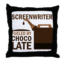 Screenwriter Chocolate Throw Pillow