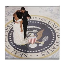 Barack and Michele Obama Tile Coaster