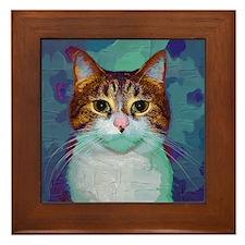 Classical Cat Framed Tile