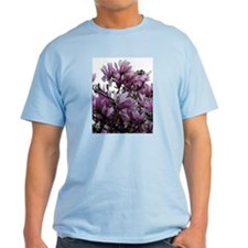 Lavender Leaves Ash Grey T-Shirt