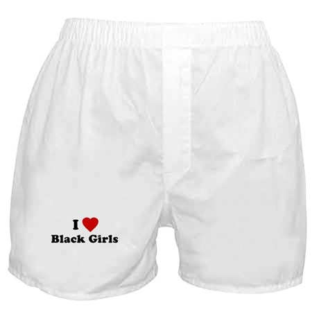 I Love [Heart] Black Girls Boxer Shorts