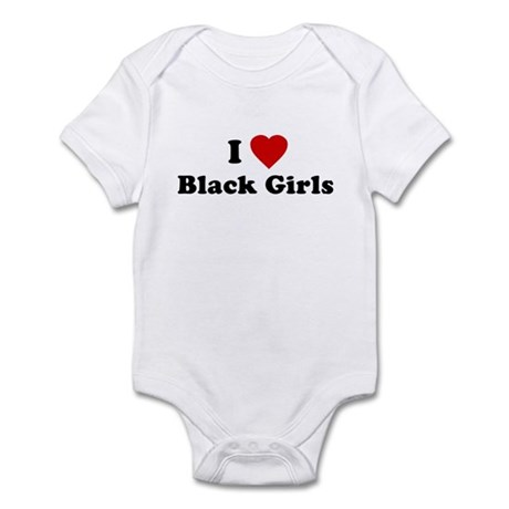 I Love [Heart] Black Girls Infant Bodysuit