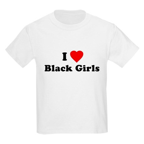 I Love [Heart] Black Girls Kids T-Shirt