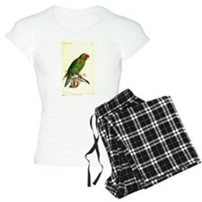 Red and Green Parrot Pajamas
