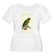 Red and Green Parrot Plus Size T-Shirt