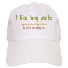 I Like Long Walks Baseball Cap