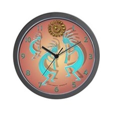 Kokopelli w/ Sun Wall Clock
