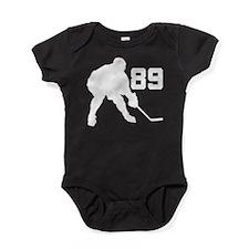 Hockey Player Number 89 Baby Bodysuit