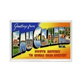 Eau Claire Wisconsin Greetings Rectangle Magnet