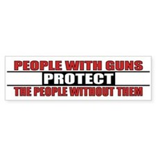 People With Guns Protect Car Sticker