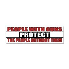 People With Guns Protect Car Magnet 10 x 3