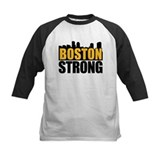 Boston Strong Gold Black Baseball Jersey