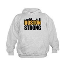 Boston Strong Gold Black Hoodie