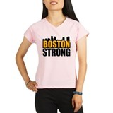 Boston Strong Gold Black Peformance Dry T-Shirt