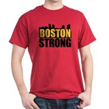Boston Strong Gold Black T-Shirt