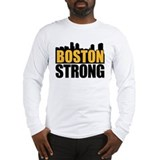 Boston Strong Gold Black Long Sleeve T-Shirt