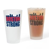 Boston Strong Red Blue Drinking Glass