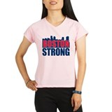 Boston Strong Red Blue Peformance Dry T-Shirt