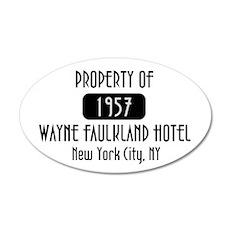 Property of the Wayne Faulkland Hotel 20x12 Oval W
