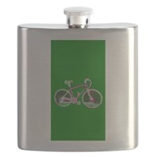 Green Bicycle Wondrous Velo Cycling Designer Flask
