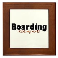 'Boarding' Framed Tile