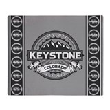 Keystone Grey Throw Blanket