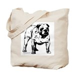 Black & White Bulldog Tote Bag