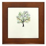 Rainbow Tree Framed Tile