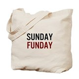 Sunday Funday Black/Red Tote Bag