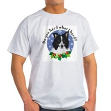 Border Collie Christmas Ash Grey T-Shirt