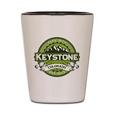 Keystone Green Shot Glass