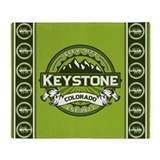 Keystone Green Throw Blanket