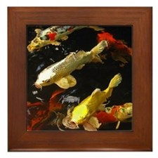 Koi Group Framed Tile