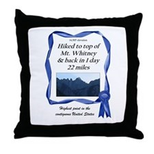 Mt. Whitney Throw Pillow