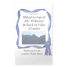 Mt. Whitney Rectangle Decal