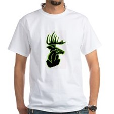 Green Buck on Black Shirt