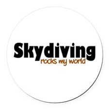 'Skydiving' Round Car Magnet
