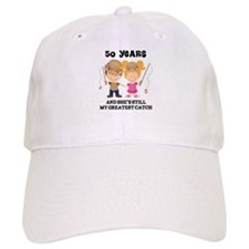 50th Anniversary Mens Fishing Baseball Cap