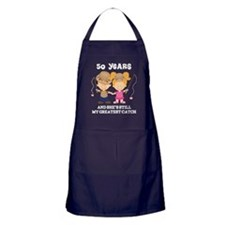 50th Anniversary Mens Fishing Apron (dark)