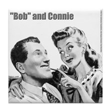 "Connie & ""Bob"" CloseUp Tile Coaster"