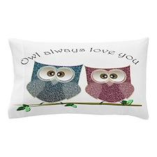 Owl always love cut cute Owls Art Pillow Case