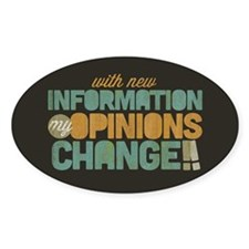 Grunge Opinions Change Decal