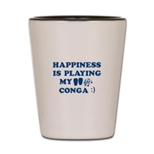 Conga Vector Designs Shot Glass