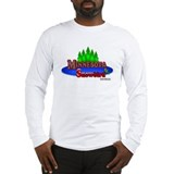 """Minnesota Snowbird"" Long Sleeve T-Shirt"