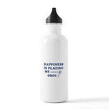 Oboe Vector Designs Water Bottle