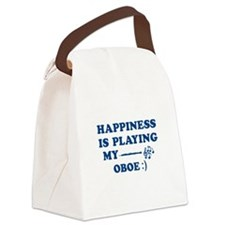 Oboe Vector Designs Canvas Lunch Bag