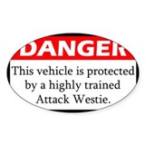 Danger Westie Decal