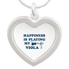 Viola Vector Designs Silver Heart Necklace